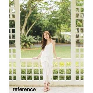 Drappery dress on white only