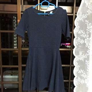 H&M Navy Blue Skater Dress