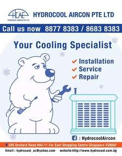 We are new at Carousell. Hydrocool Aircon servicing.