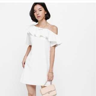 Love Bonito - Aryn Ruffled Off Shoulder A-Line Dress (Size M)