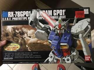 Gundam Bandai HG Rx-78GPO1 sealed