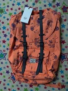 Authentic Herschel Floral peach backpack