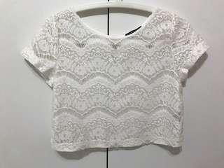 White Lace Crochet Top