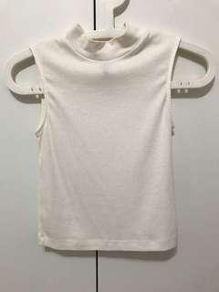 H&M White Ribbed Top