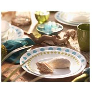 "Corelle 18 Piece""South Beach"" Livingware Dinnerware Set, White"