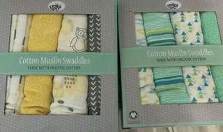 Organic Muslin Swaddles 有機棉大紗巾 浴巾 bb車被 餵奶巾 #sellfaster