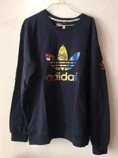 全新 Adidas 深藍色衛衣 套頭上衣 長袖衫 男裝女裝合用