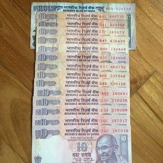 Indian Rupees for Singapore Dollars