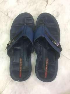 Prada dark blue slippers