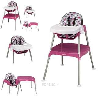 [PO] Evenflo Convertible High Chair (Dottie Rose)