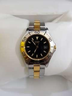 Citizen watch for ladies with 2 tone stainless steel bracelet