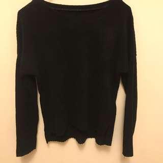 🚚 黑色針織上衣#十一月女裝半價