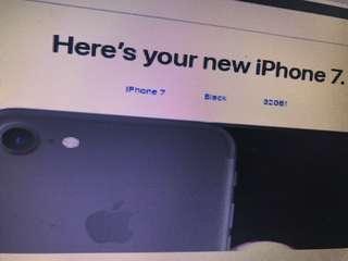 iphone 7 32gb, black no scratch 3000nt swap to iphone 7 plus