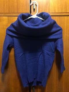 Chic Cowl Neck Wool Top