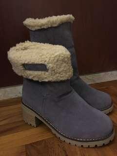 Winter fur boots (grey)