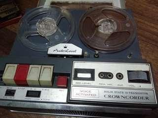 REPRICED VINTAGE CROWNCORDER (TAPE RECORDER)