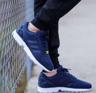 Adidas ZX Flux Navy Sneakers Shoes Trainers