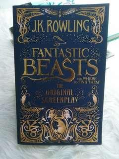 SOFTCOVER Fantastic Beasts and Where to Find Them : The Original Screenplay J.K. Rowling Softcover NEW BOOK