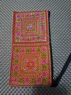 Wallet/ Pouch: Embroidered Multicolor