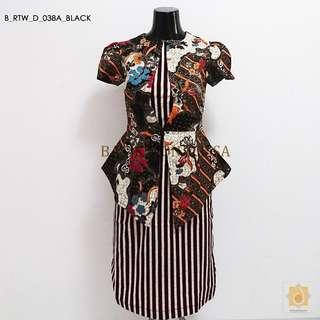 Batik Office dress in black