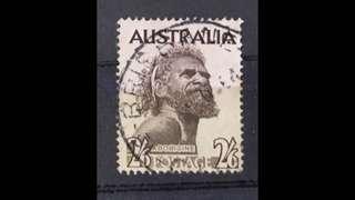 Australia aborigine Stamp Used Error Unwatermark