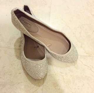 Authentic Zara Embellished Flats Shoes