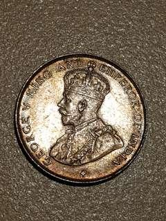 Straits settlements king george 50 cents