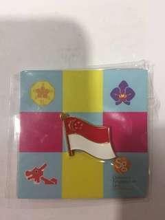 Singapore 🇸🇬 flag magnatic pin!