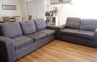 Set of 3 and 2 seater couches