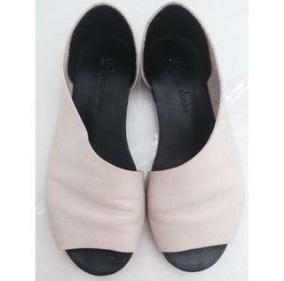 Unique Minimalist Calf Leather Handmade Flats Shoes