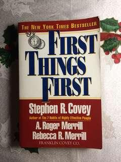 Covey: First Things First