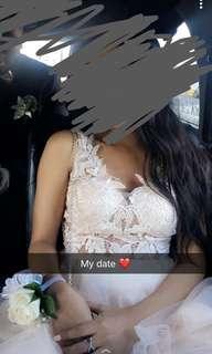 Champaign prom dress