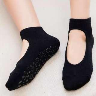 Anti-Slip Socks for Yoga/Pilates - Black, Pink, Green & Blue