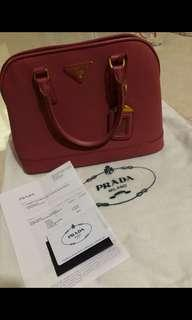 AUTHENTIC PRADA SAFFIANO LUX TAMARIS PINK/ branded bag/ original