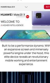 Looking for Huawei mate 20 X