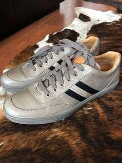 Bally Taupe Leather Sneaker Size 11
