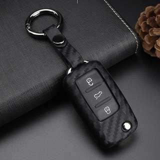 🚚 VW 碳纖軟鑰匙套 鑰匙殼 GOLF GTI TIGUAN T5 POLO CADDY PASSAT 沂軒精品A0472