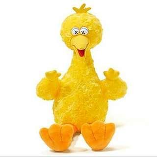 全新uniqlo x kaws big bird yellow 黃色 毛公仔 芝麻街 Sesame