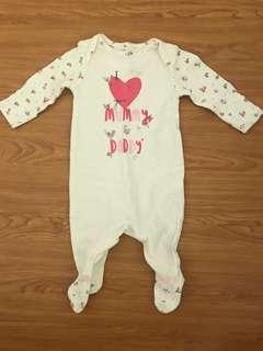 I Love Mom and Dad Sleepsuit