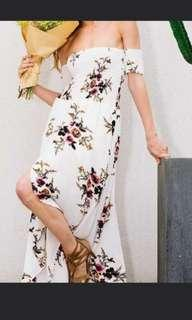 brand new off shoulder floral dress