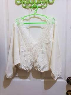 Cream White Blouse