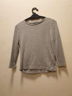 Grey Cotton On Long Sleeved Top
