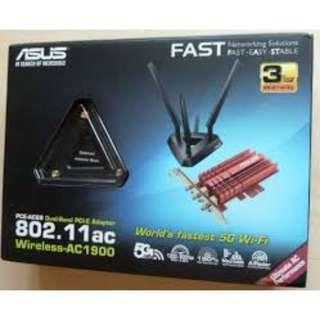 ASUS PCE-AC68 Dual Band PC1-E Adapter 802.11ac Wireless - AC1900 #sellfaster #MTRtst