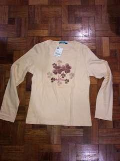Blue (HK) beige cotton long sleeves