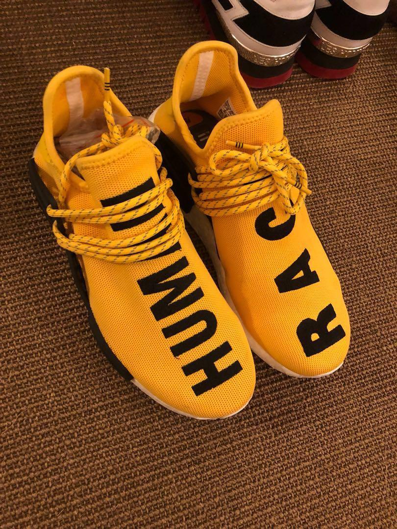 outlet store 68949 3755e Adidas NMD Human Race (yellow) Ua, Men's Fashion, Footwear ...
