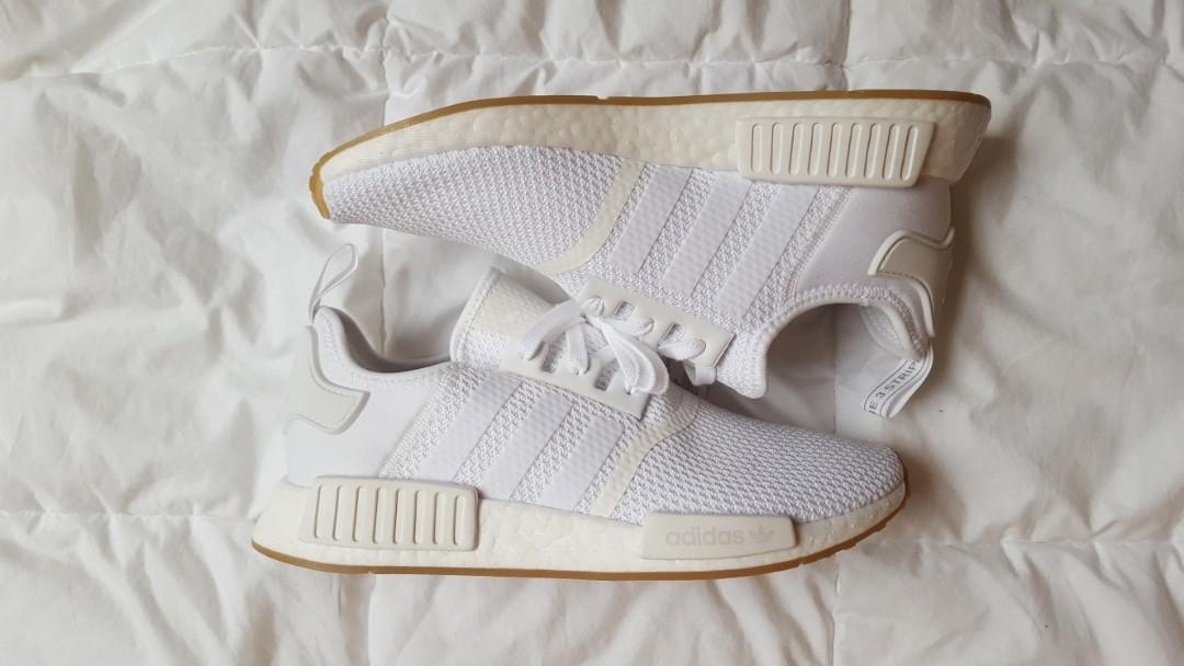 Adidas NMD R1 White/Gum Sole Men's Size 9
