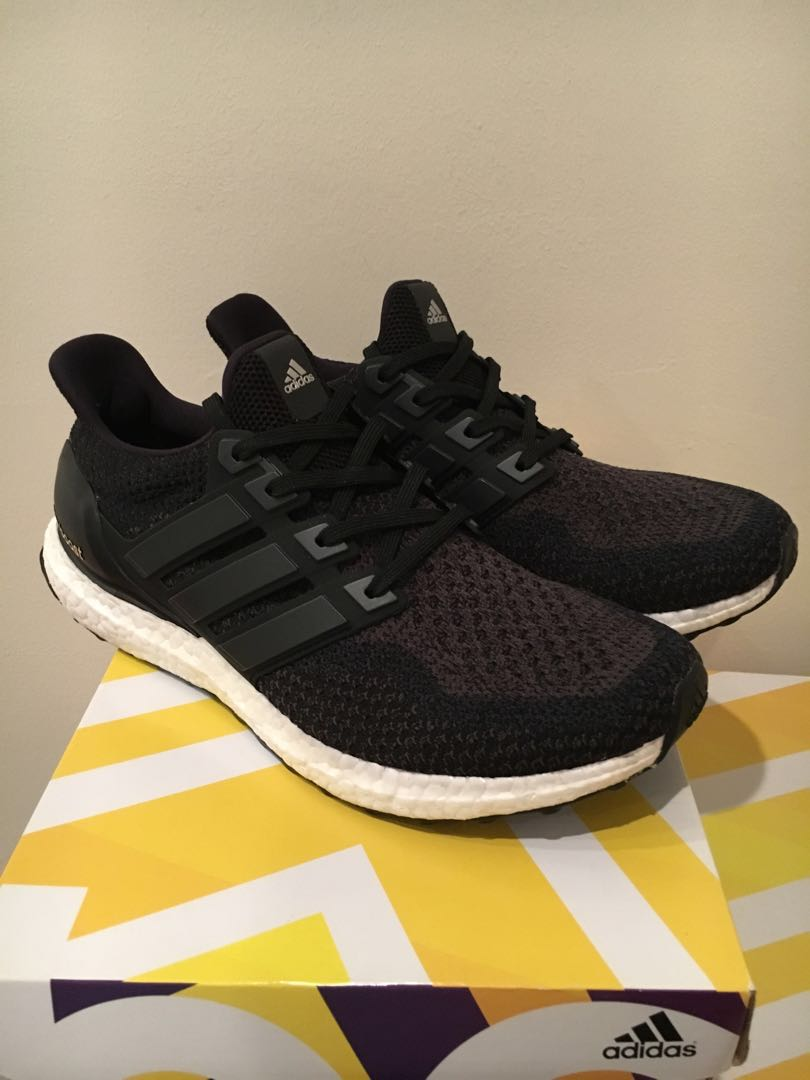 ccbb9ee4659 ... france adidas ultra boost 2.0 core black us10 mens fashion footwear  sneakers on carousell 87ff7 7846a