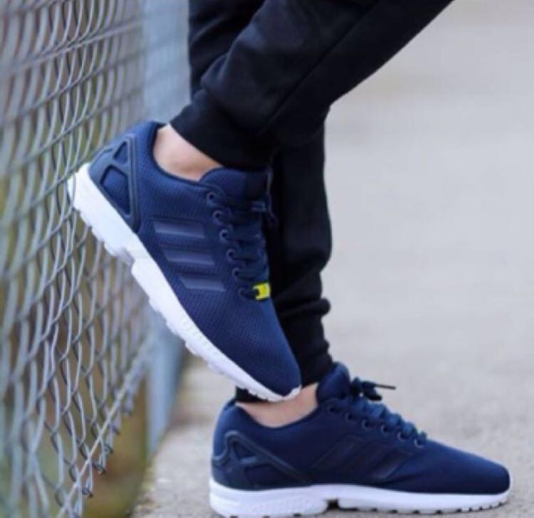 74bfbc21a Adidas ZX Flux Navy Sneakers Shoes Trainers