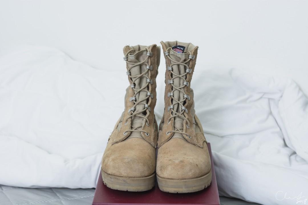 ALTAMA Jungle 3LC Tan 9D 沙漠 軍靴 美國製 八成五新