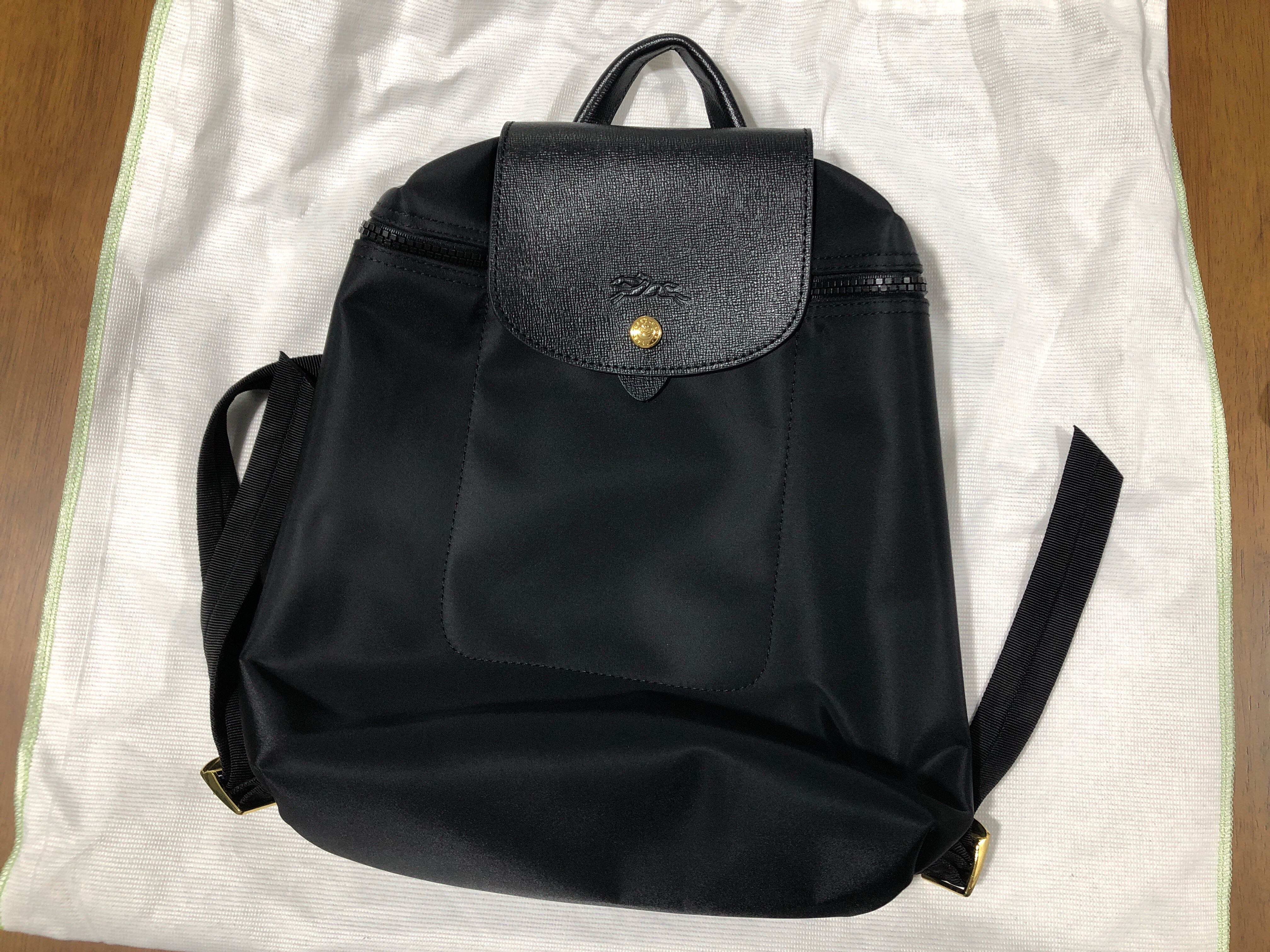 e35aaebbd6a9 Authentic black longchamp backpack